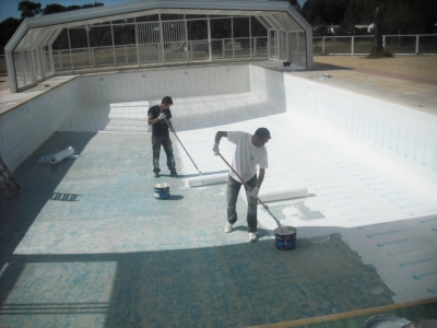 Under-Tile Swimming Pool Waterproofing